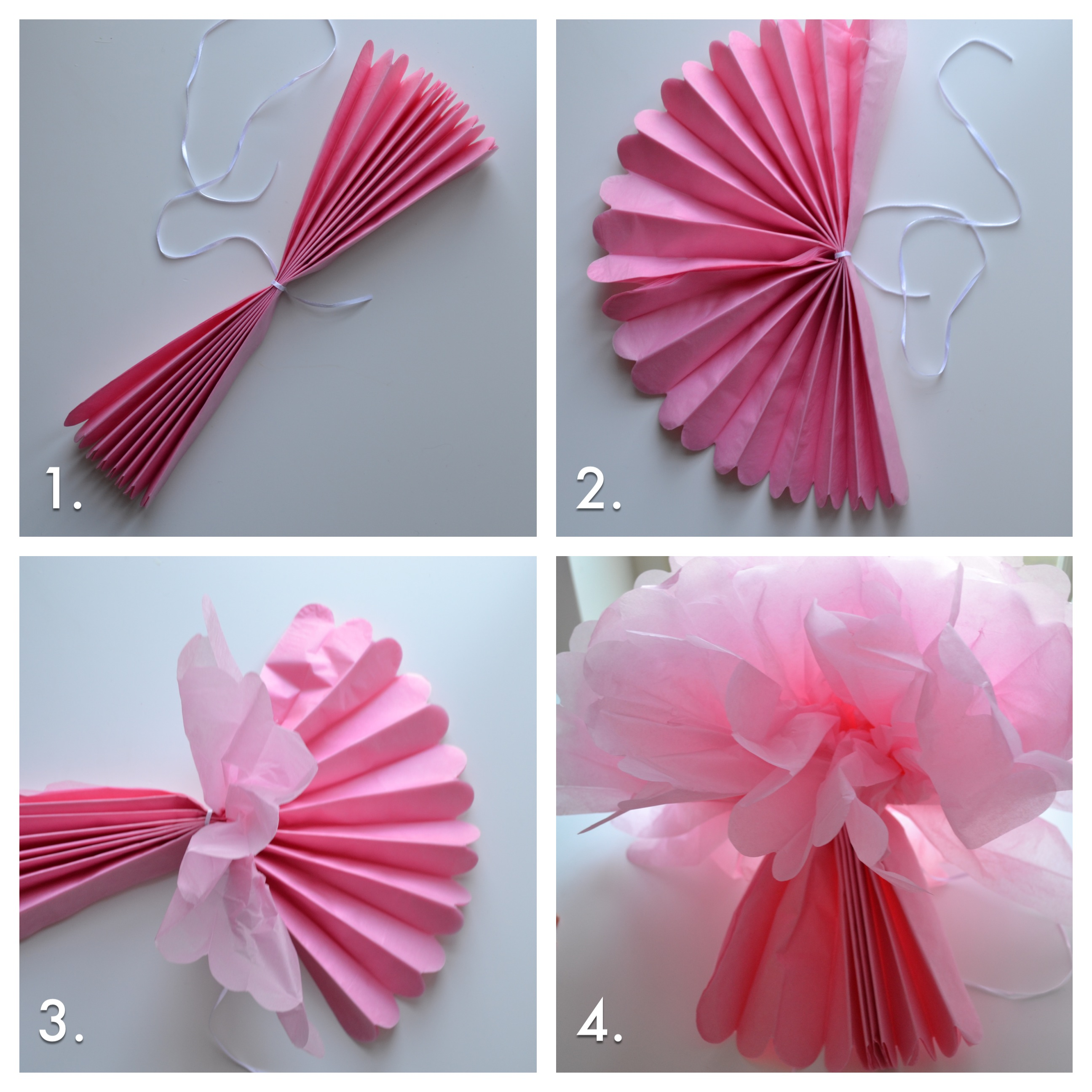 How To Fluff Your Tissue Pom Poms To Perfection Tutorial The Sweet